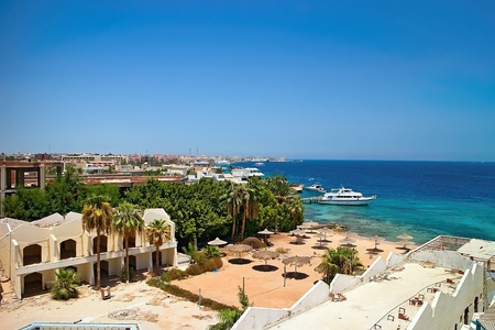 View of the Egyptian Hurghada at the Red Sea.