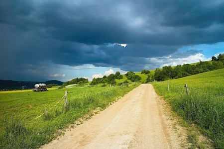 Landscape with storm clouds on Liptov in Slovakia. Imagens - 121475770