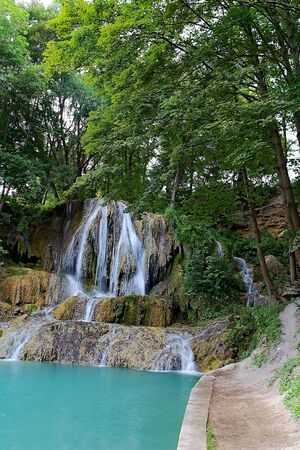 Waterfall Lucky near Liptov village Lucky. Often visited attraction of beautiful part of Slovakia.