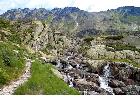 Landscape around the Skok waterfall in the High Tatras in Slovakia. Beautiful Slovakia.