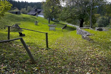 A grassy path to the Partisan Hospital in the former village - Kaliste burned down by the fascists during World War II.