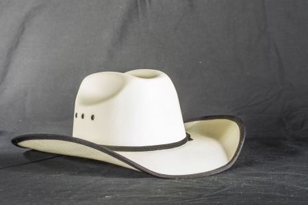 An isloated shot of a western cowboy hat. photo