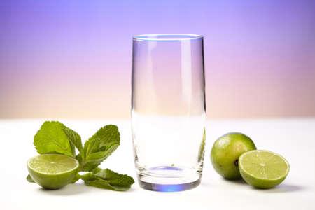 Mineralwasser mit Limetten - Zutaten