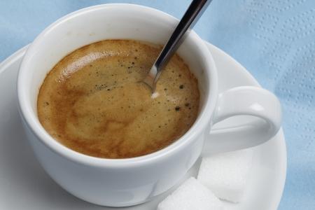 Spoon the espresso