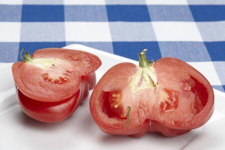 ox: Halved ox heart tomato Stock Photo