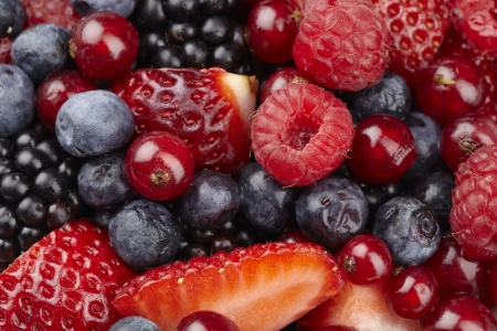 Fruit salad of berries photo