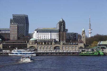 Hamburg   Germany - St  Pauli gangplanks and television tower