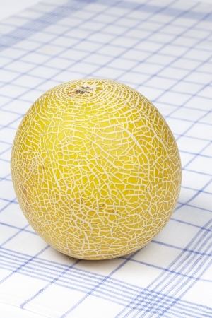 Galia melon on a dishtowel