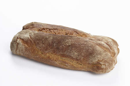 exempted: A loaf of bread exempted on a white background.