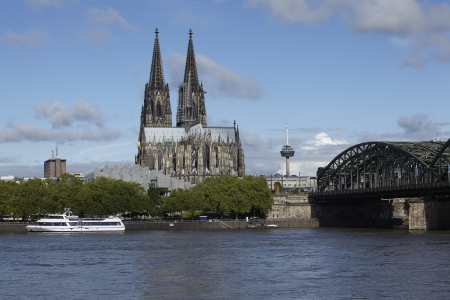 Cologne Cathedral at daylight. Stock Photo
