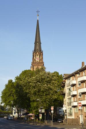 sachsenhausen: Chiesa dei Re Magi di Francoforte (Main) presi in prima serata. Editoriali