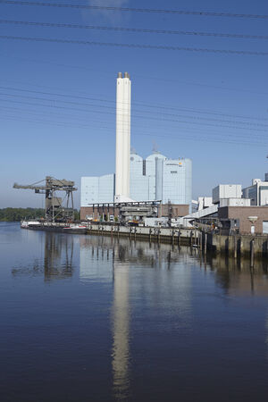 powerhouse: The power plant Tiefstack (Vattenfall) in Hamburg provides 270.000 households with electricity and district heating on May 17, 2014. Editorial