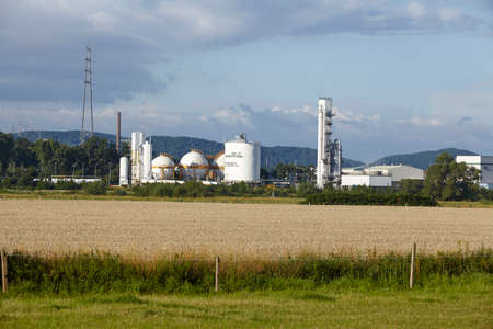 liquidation: The German branch of Air Products produces gases by liquidation of air near the river Ruhr on July 25, 2015.