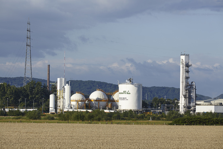 ruhr: The German branch of Air Products produces gases by liquidation of air near the river Ruhr on July 25, 2015.