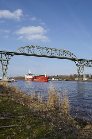 schleswig holstein: The chemical tanker Crystal Skye at the Kiel Canal near Hochdonn (Germany, Schleswig Holstein) on April 2, 2016. Editorial