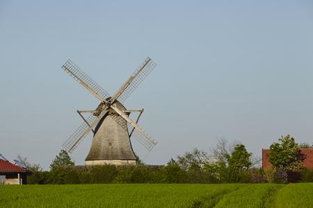 The windmill Destel (Stemwede, Germany) is a dutch type of windmill and is part of the Westphalia Mill Street (Westfaelische Muehlenstrasse). Reklamní fotografie