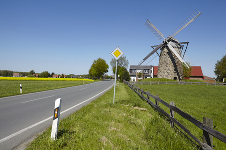 The windmill Grossenheide (Minden-Todtenhausen, Germany) is part of the Westphalia Mill Street.