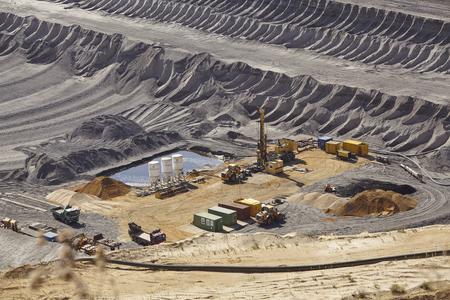 The opencast mining Garzweiler near Moenchengladbach (Germany, Northrhine-Westphalia) at the Rhenanian brown coal area on September 10, 2016. Editorial