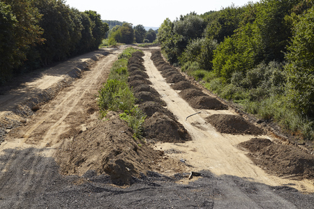 The formerly Autobahn A4 near Merzenich (Northrhine Westphalia, Germany) is demolished because of the near soft coal opencast mining Hambach (Rhenania brown coal field) on September 10, 2016. Editorial