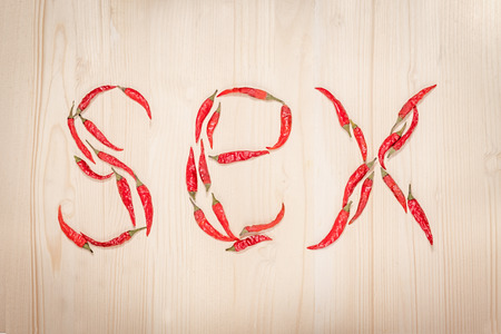 raster sex: word sex composed of chili peppers