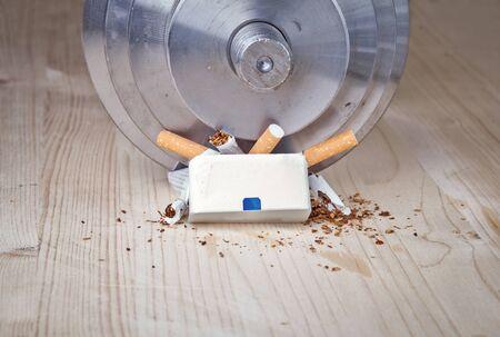 wean: conceptual photo with anti nicotine idea Stock Photo