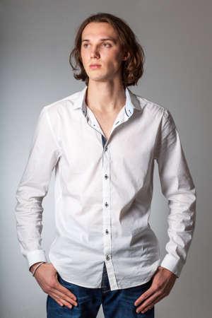 studio shots: studio shots of young attractive caucasian guy