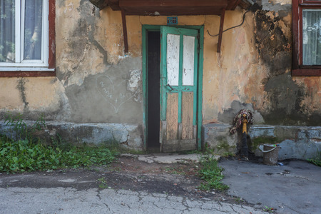 entrance of old emergency condition living quarters