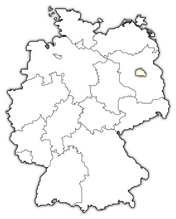 Germany Map Berlin.Germany Map Berlin Highlighted Stock Photo Picture And Royalty