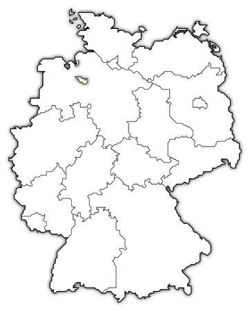 germany map, bremen highlights photo