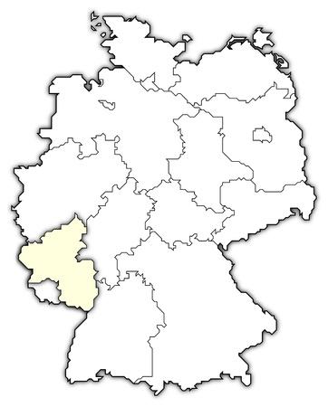 hesse: map of germany, rhineland-palatinate highlighted Stock Photo