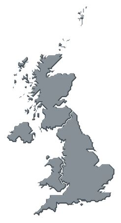 Political map of United Kingdom with the several countries. photo