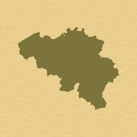 belgie: Political map of Belgium with the several states.