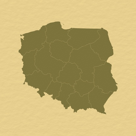 Political map of Poland with the several provinces (voivodschips). Stock Photo - 11157169