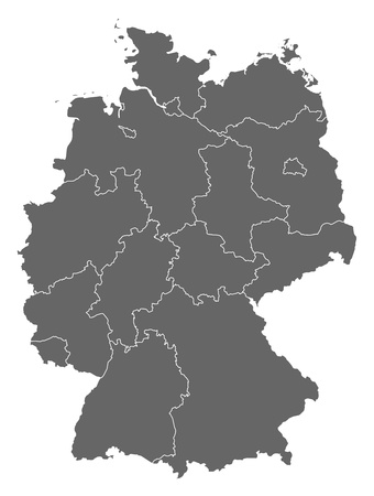 germany map: Political map of Germany with the several states.