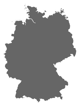 deutschland karte: Politische Karte von Deutschland mit den verschiedenen Staaten. Illustration