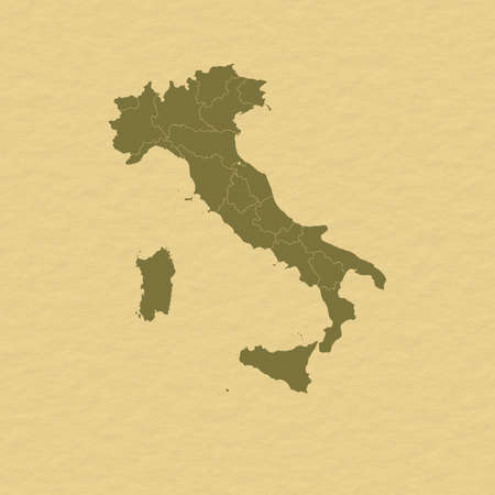 Political map of Italy with the several regions. Stock Photo - 11198129