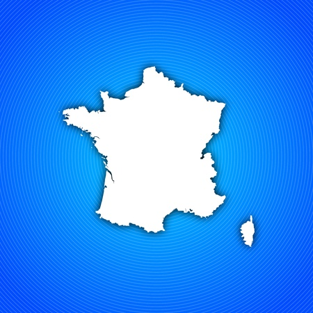 Political map of France with the several regions. photo