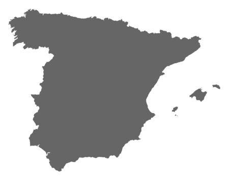 Political map of Spain with the several regions.