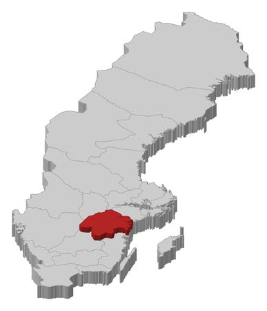 laen: Political map of Sweden with the several provinces where �sterg�tland County is highlighted.