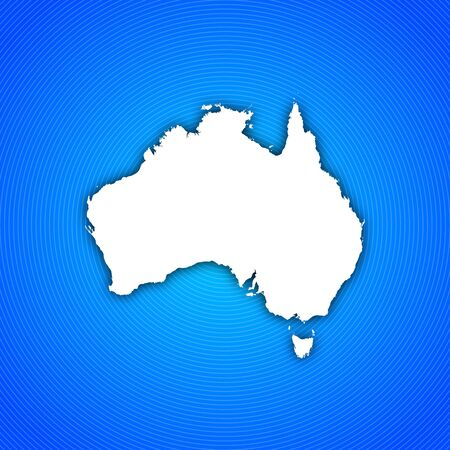 frontiers: Political map of Australia with the several states. Stock Photo