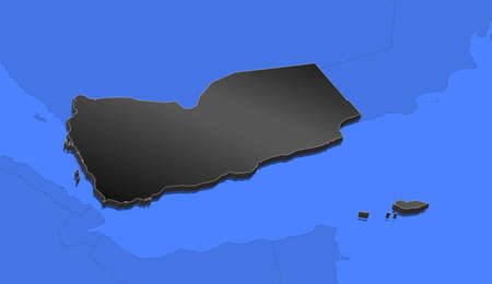 Political map of Yemen with the several governorates. Illustration