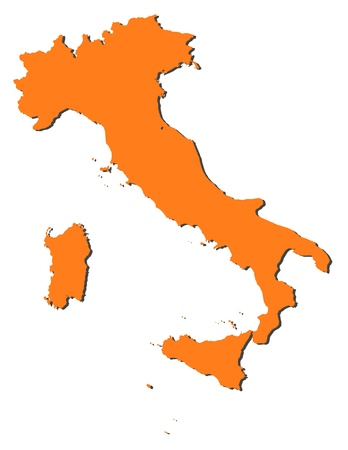 italiA: Political map of Italy with the several regions.