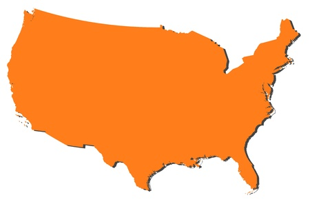 prov�ncia: Political map of the United States with the several states.
