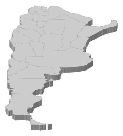 map of argentina: Political map of Argentia with the several provinces. Illustration