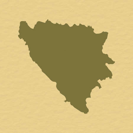 hercegovina: Political map of Bosnia and Herzegovina with the several cantons.