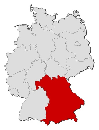 A Simple D Map Of Germany Royalty Free Cliparts Vectors And - Germany map simple