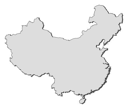 people's republic of china: Political map of China with the several provinces.
