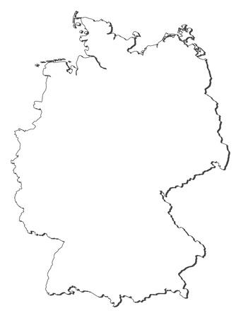 Polityczna mapa Niemiec z kilku stanów. Ilustracje wektorowe