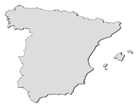 Political map of Spain with the several regions. Vector