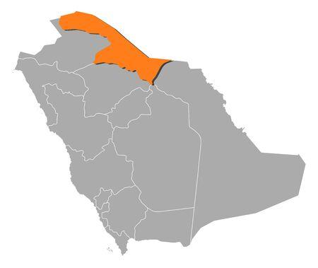 いくつかの州でサウジアラビアの政治地図どこ ' アシールが強調表示 ...